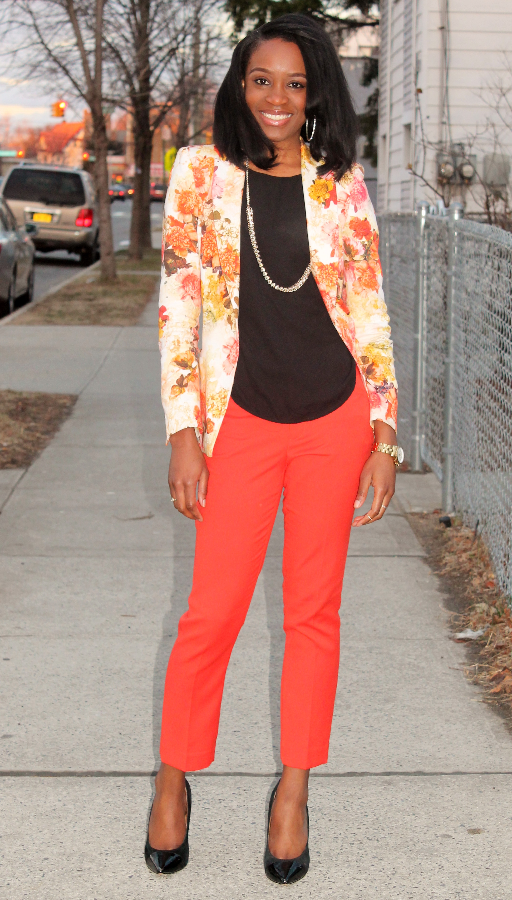 Floral blazer + ankle trousers (4)