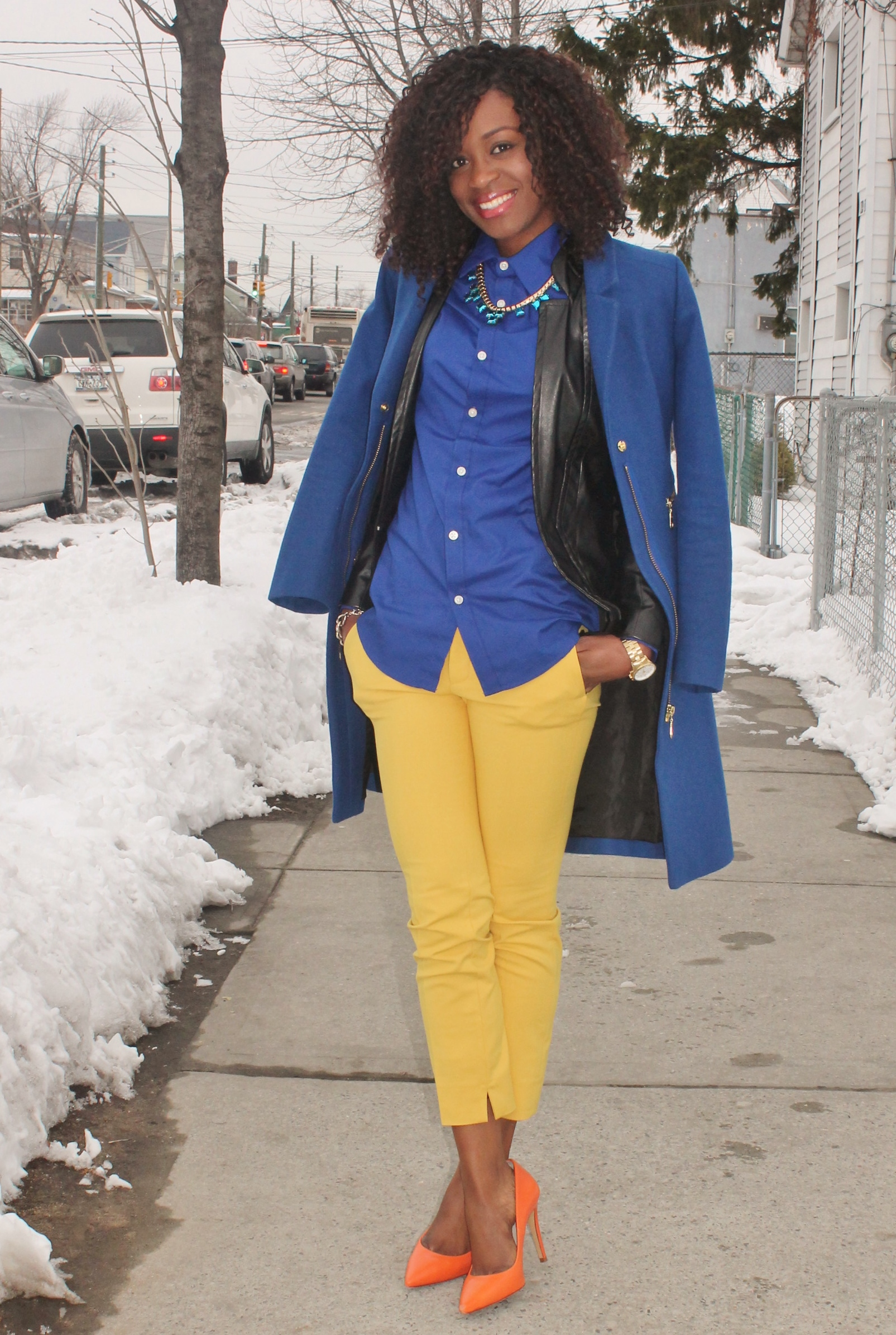 colorblock outfit