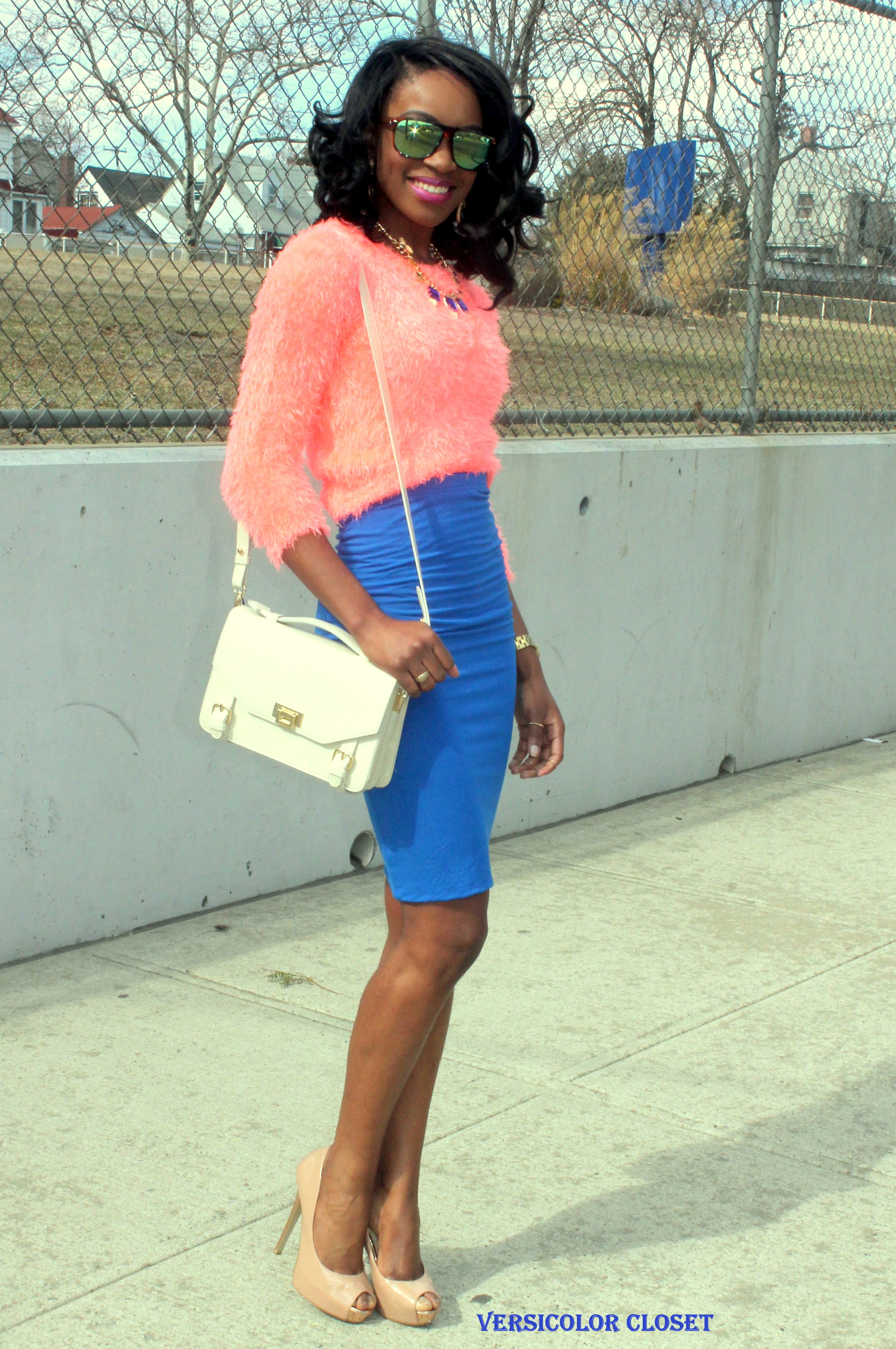 Colorblock - pink and blue (1)