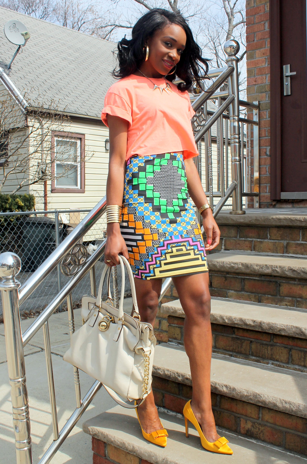 Colorful printed skirt + crop top (11)