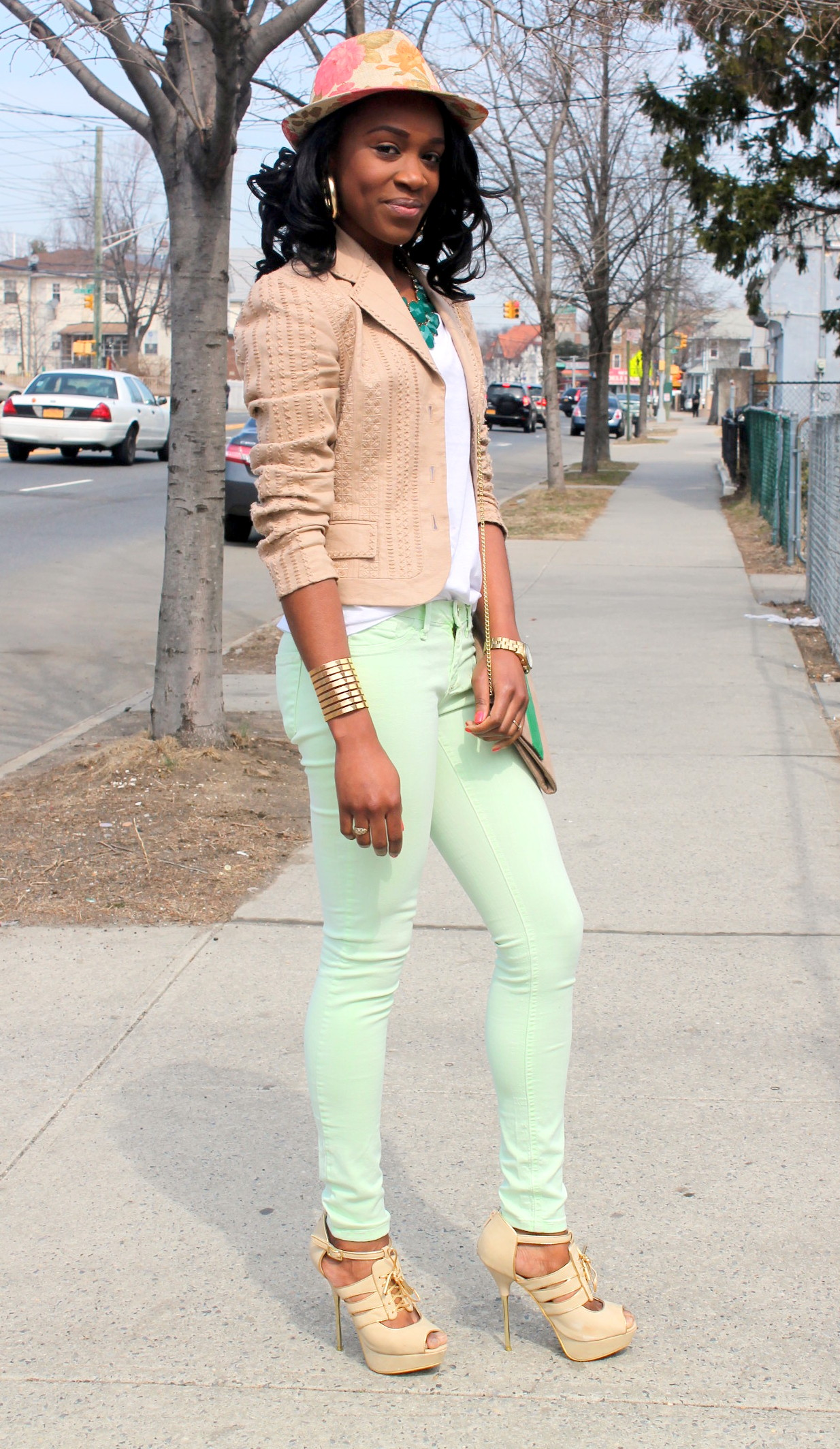 Mint denim & neutral blazer (10)