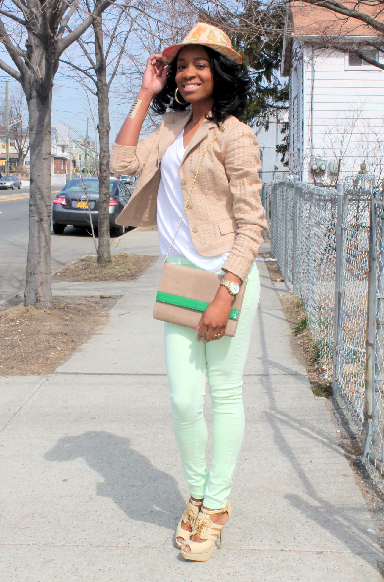 Mint denim & neutral blazer (4)