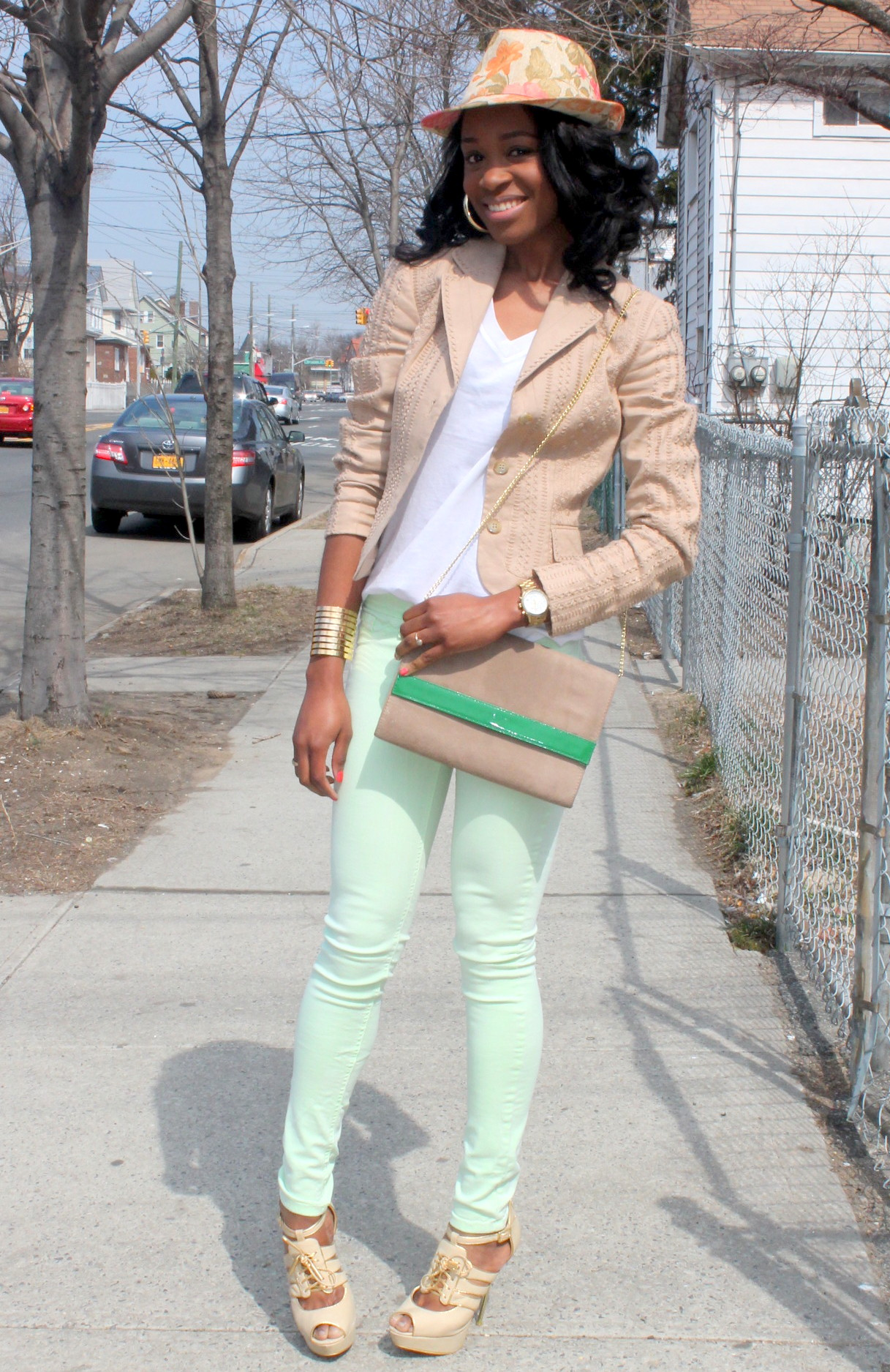 Mint denim & neutral blazer (6)
