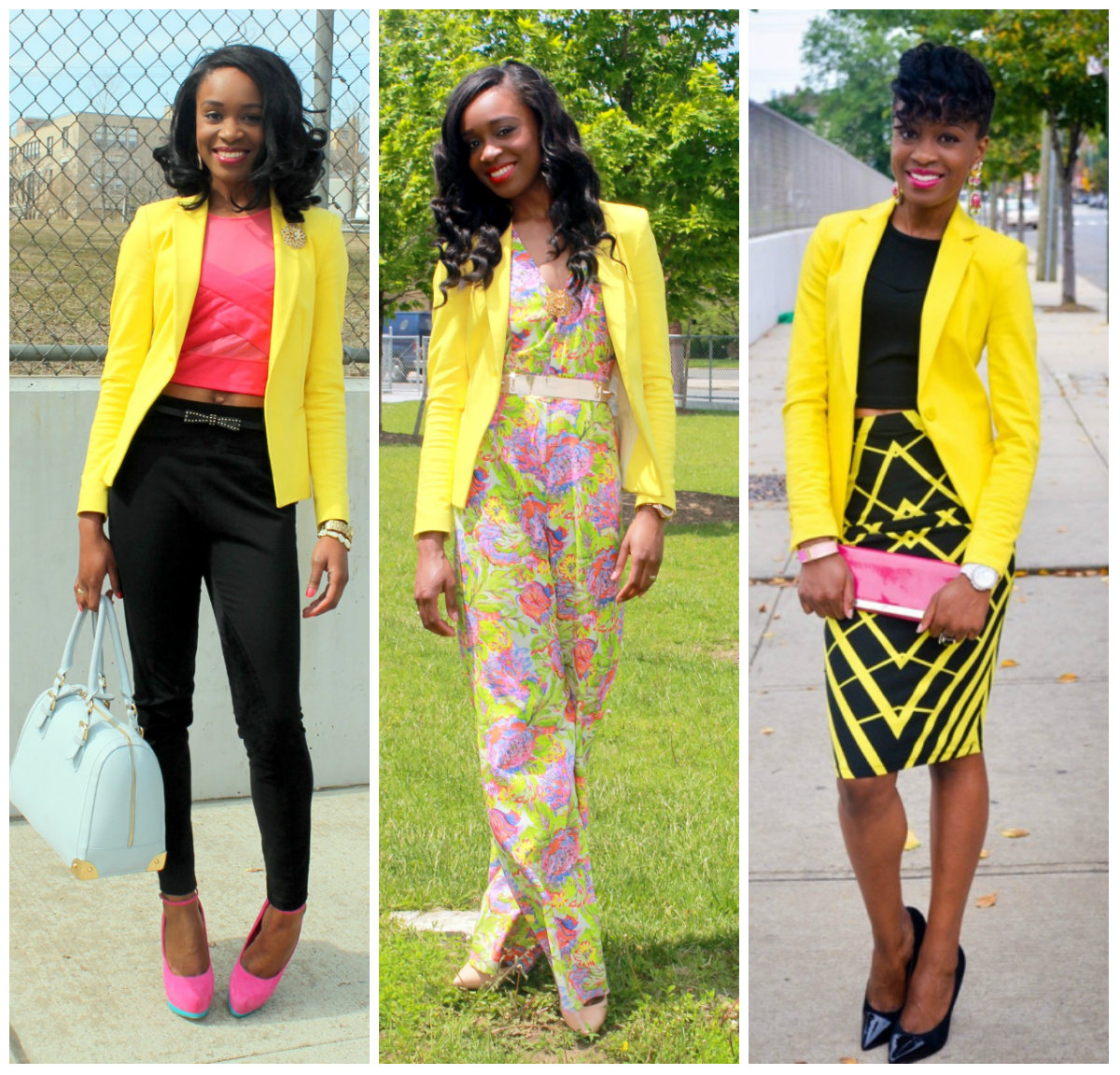 Yellow blazer 3 ways