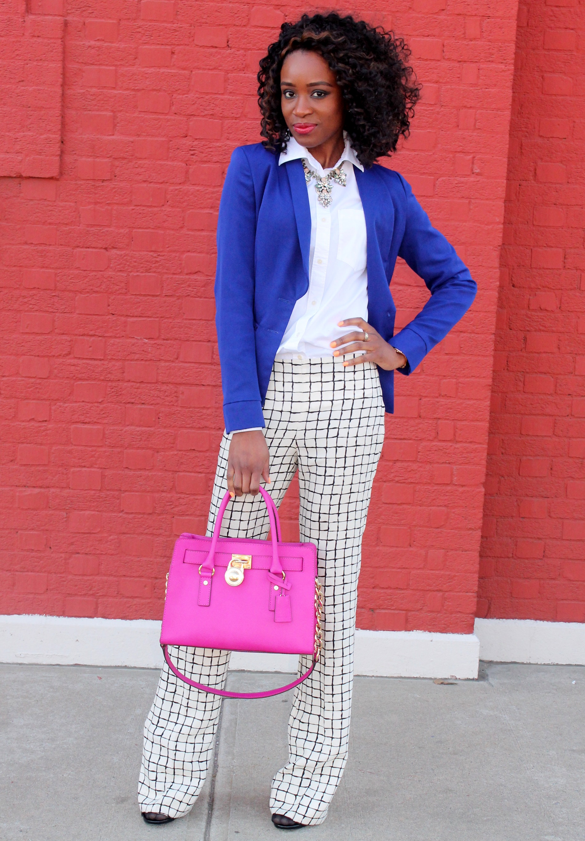 Wide leg trousers + blazer (2)