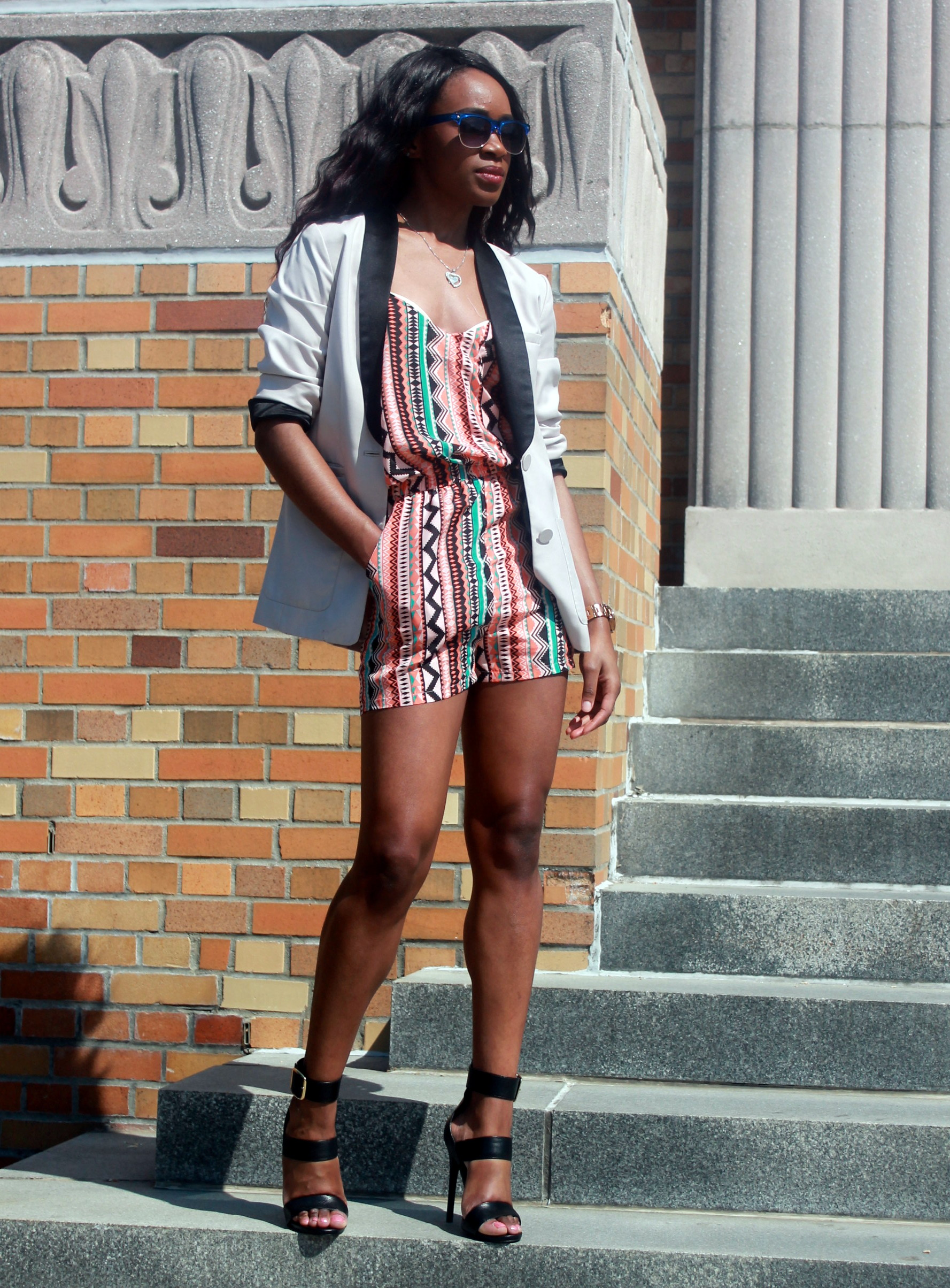 Printed romper + neutral blazer (6)