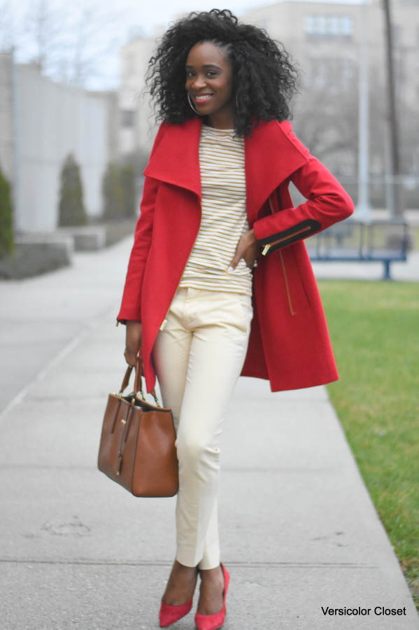 Jcrew top + Red Rachel Roy coat  (4)