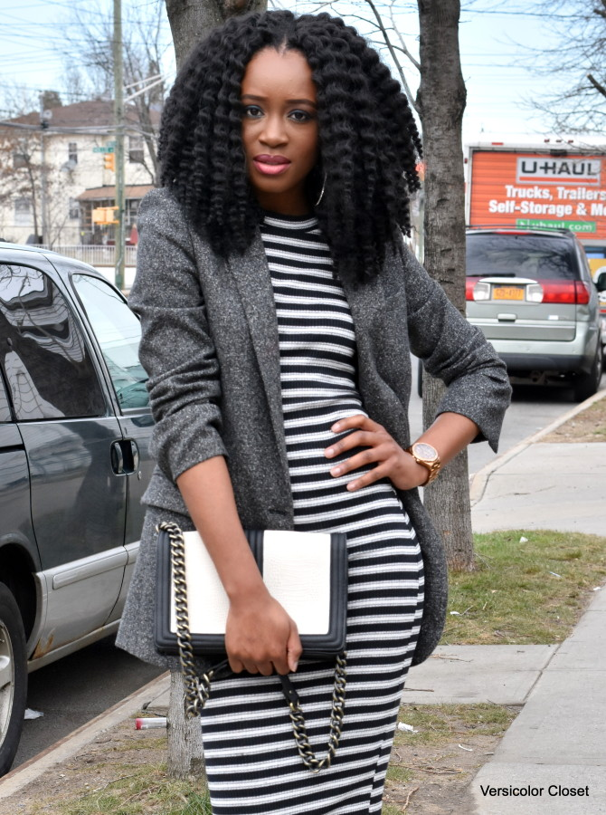 Striped dress + boyfriend blazer (3)