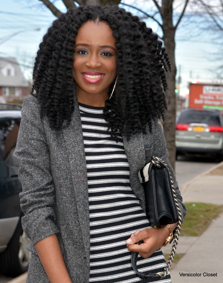 Striped dress + boyfriend blazer (4)