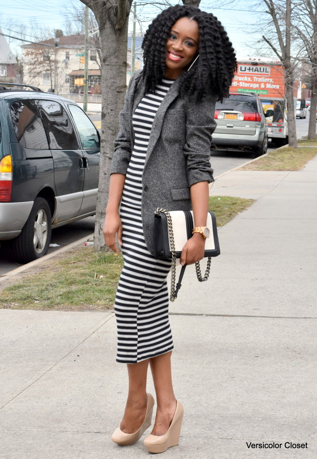 Striped dress + boyfriend blazer (6)