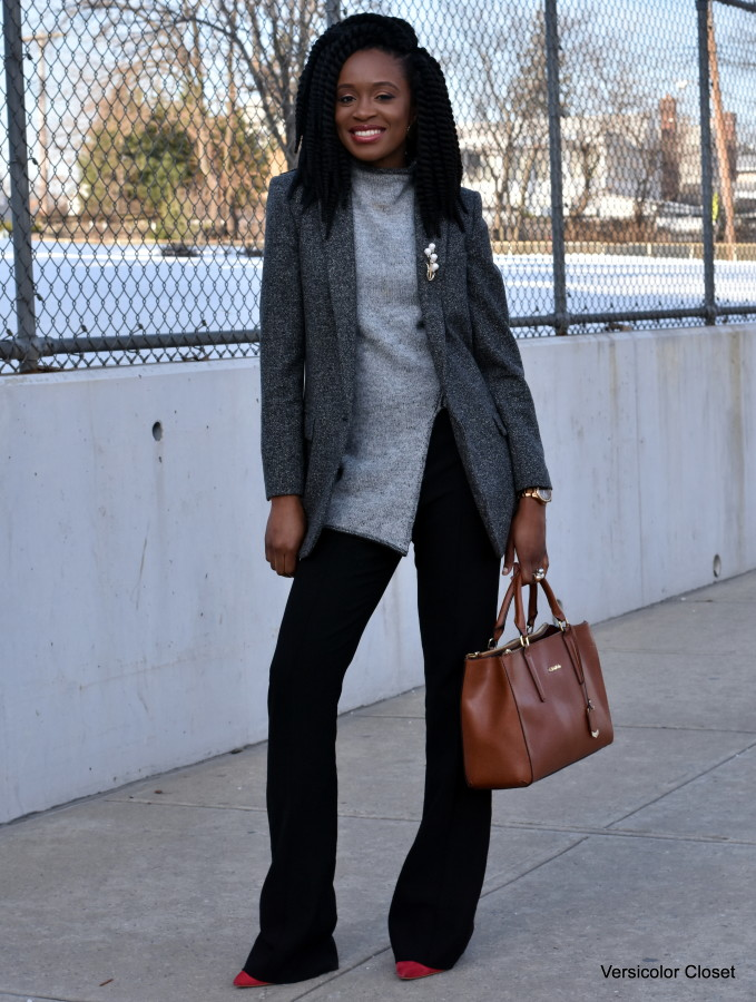 Wide leg pants & boyfriend blazer (2)