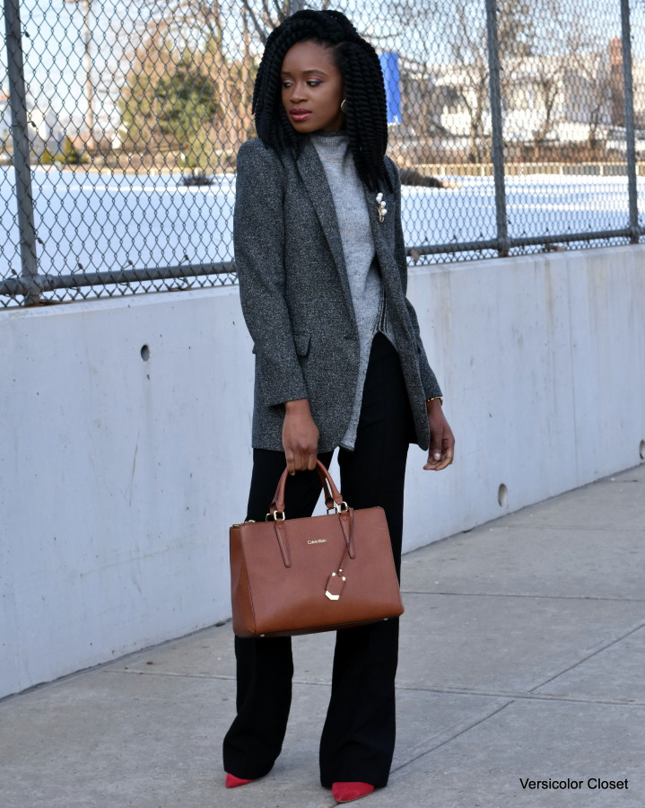 Wide leg pants & boyfriend blazer (4)