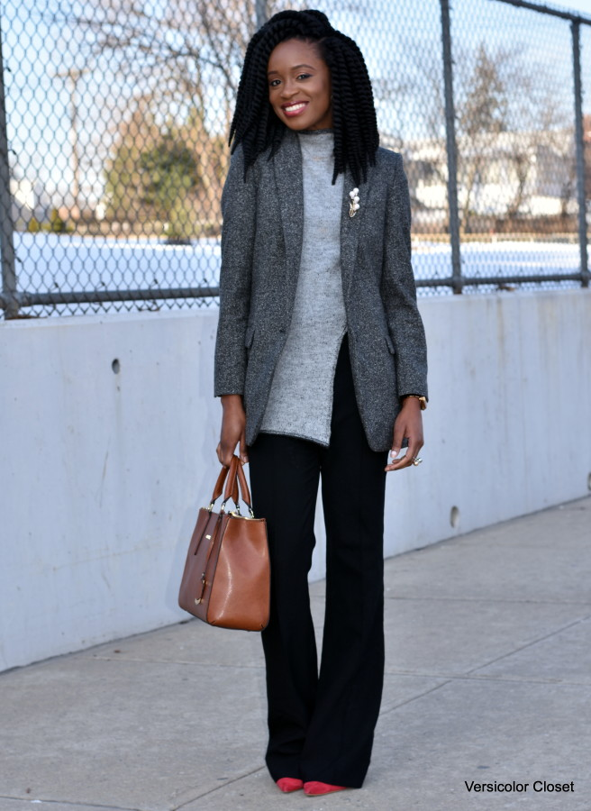 Wide leg pants & boyfriend blazer (5)