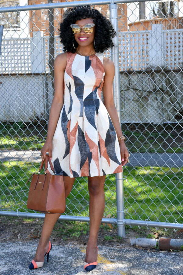 patterned-dress-colorblock-shoes-1