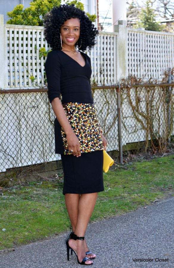 LBD + embellished skirt (1)