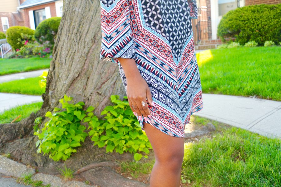 Printed shift dress (8)