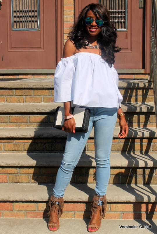 How to wear an off the shoulder top this summer (1)