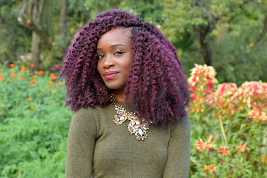 how to style burgundy crochet braids
